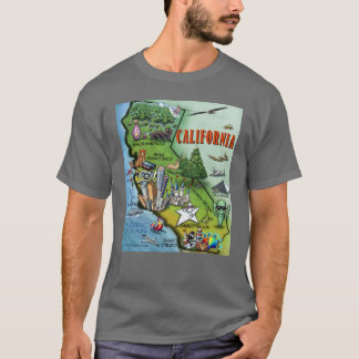 California Map T-Shirt