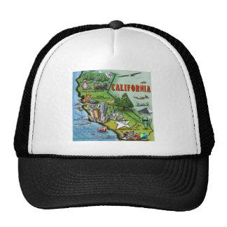 California Map Trucker Hat