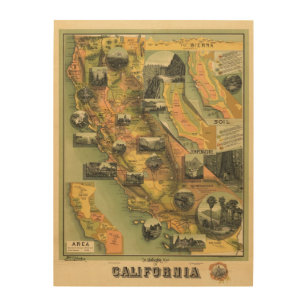California Map Wood Wall Art Zazzle