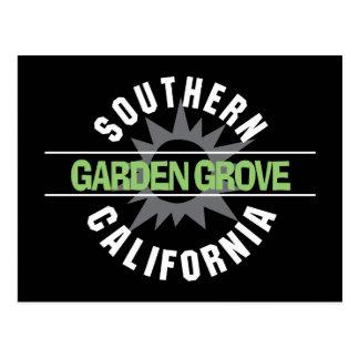 California meridional - arboleda del jardín tarjetas postales