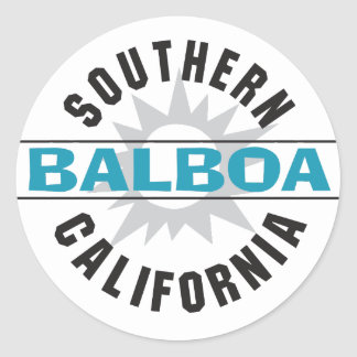 California meridional - balboa pegatina redonda