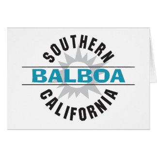 California meridional - balboa tarjeta de felicitación