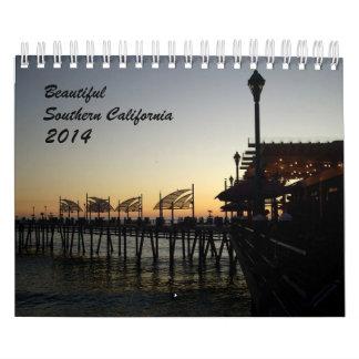 California meridional hermosa calendario de pared