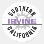 California meridional - Irvine Etiqueta Redonda