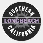 California meridional - Long Beach Pegatina Redonda