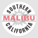 California meridional - Malibu Pegatinas Redondas