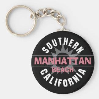 California meridional - Manhattan Beach Llavero Redondo Tipo Pin