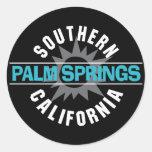 California meridional - Palm Springs Etiqueta Redonda