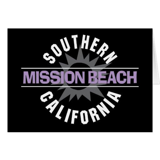 California meridional - playa de la misión tarjetón