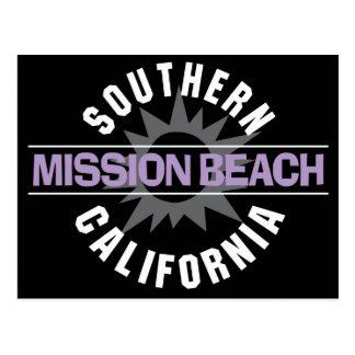 California meridional - playa de la misión postales