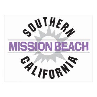 California meridional - playa de la misión tarjeta postal