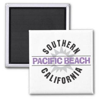 California meridional - playa pacífica imán cuadrado