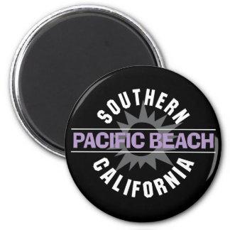 California meridional - playa pacífica imán redondo 5 cm