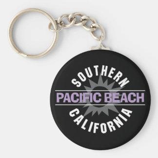 California meridional - playa pacífica llavero redondo tipo pin