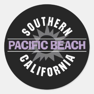 California meridional - playa pacífica pegatina redonda