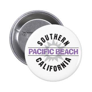 California meridional - playa pacífica pin redondo de 2 pulgadas