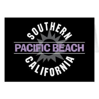 California meridional - playa pacífica tarjeta de felicitación