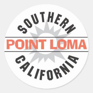 California meridional - Point Loma Pegatinas Redondas