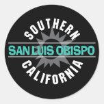 California meridional - San Luis Obispo Pegatina Redonda