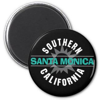 California meridional - Santa Mónica Imán Redondo 5 Cm