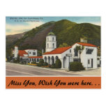 California, mesón del motel, San Luis Obispo Tarjeta Postal