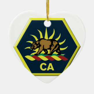 California Military Reserve Ceramic Ornament