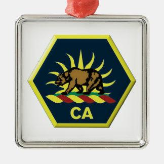 California Military Reserve Metal Ornament