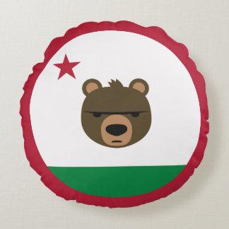 California minimalist flag round pillow