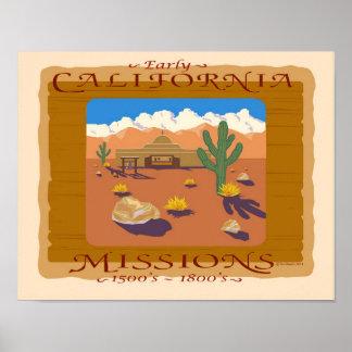 CALIFORNIA MISSION POSTER