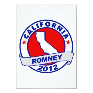"California Mitt Romney Invitación 5"" X 7"""