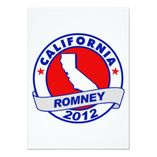 California Mitt Romney 5x7 Paper Invitation Card