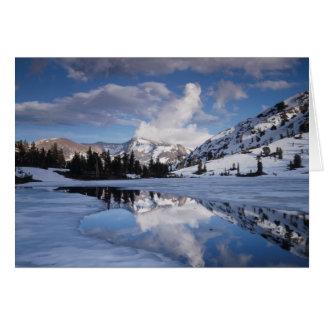 California, montañas de Sierra Nevada, pico de Tarjeta De Felicitación