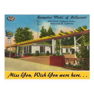 California, motel de la casa de planta baja de postal