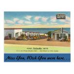 California, motel de las palizadas de Pismo Tarjeta Postal