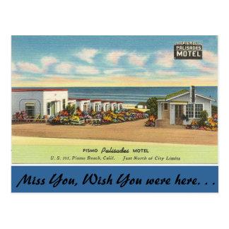 California, motel de las palizadas de Pismo Postal