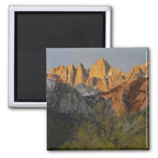 California, Mount Whitney, Inyo National Forest 3 2 Inch Square Magnet