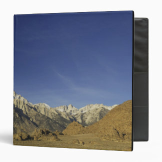 California, Mount Whitney, Inyo National Forest 3 Ring Binder