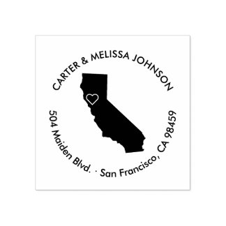 California Moving Announcement Address Stamp