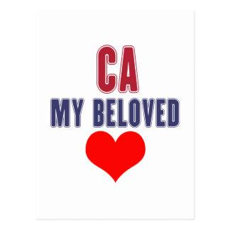 California my beloved postcard