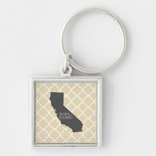 California nacida y aumentada llavero