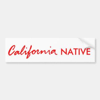 California Native Car Bumper Sticker