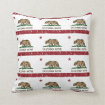 California Native Republic Flag Throw Pillows
