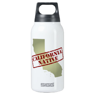 California Native Stamped on Map Insulated Water Bottle