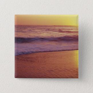 California, near Santa Cruz, View of beach at Pinback Button