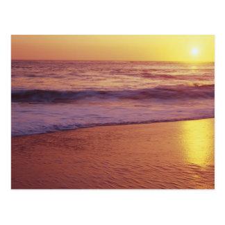 California, near Santa Cruz, View of beach at Postcard