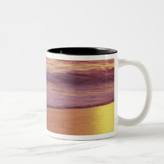 California, near Santa Cruz, View of beach at Two-Tone Coffee Mug