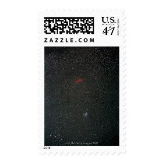 California Nebula and Pleiades Stamp