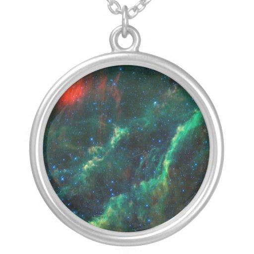 California Nebula & Star Menkhib Personalized Necklace