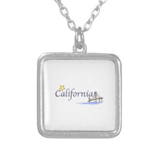 California Square Pendant Necklace
