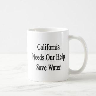 California Needs Our Help Save Water Coffee Mug